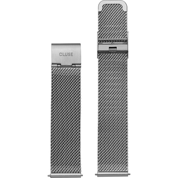 Cluse Metallband Minuit Strap Mesh Silver