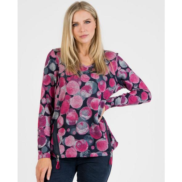 Sweatshirt mit Kreisdruck