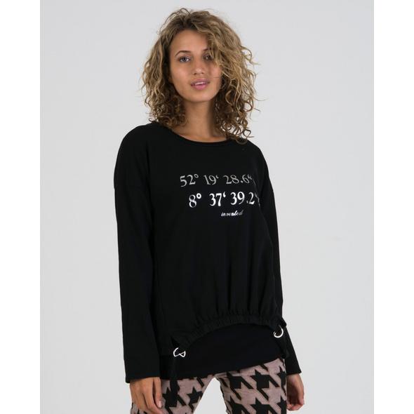 Sweatshirt mit Koordinatenprint