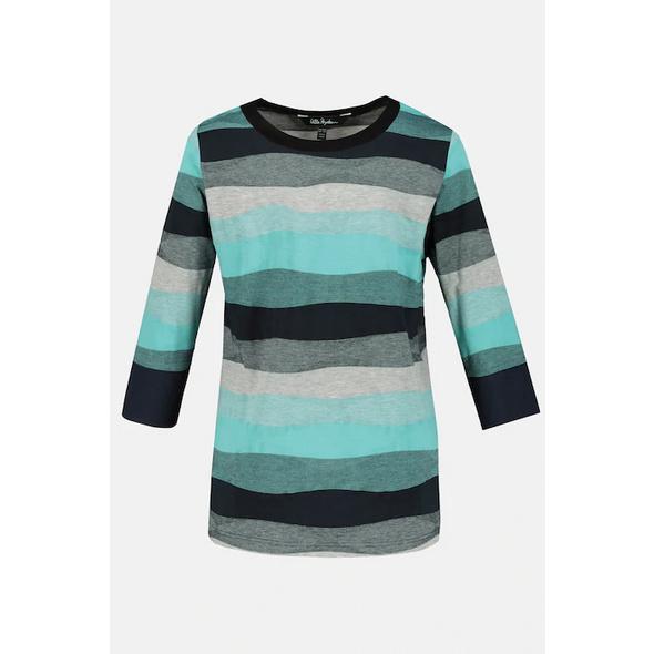 Shirt, Wellenstreifen, Classic, 3/4-Arm