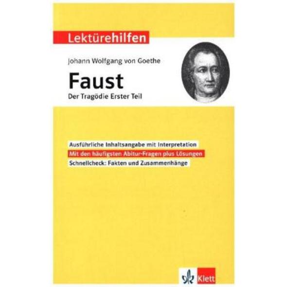 Lektürehilfen Johann Wolfgang von Goethe  Faust -
