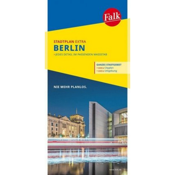Falk Stadtplan Extra Standardfaltung Berlin mit Ci