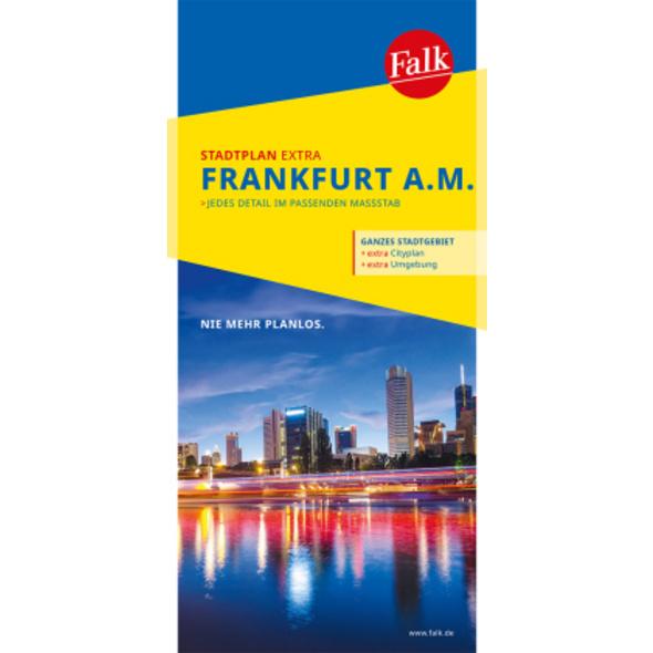 Falk Stadtplan Extra Standardfaltung Frankfurt am