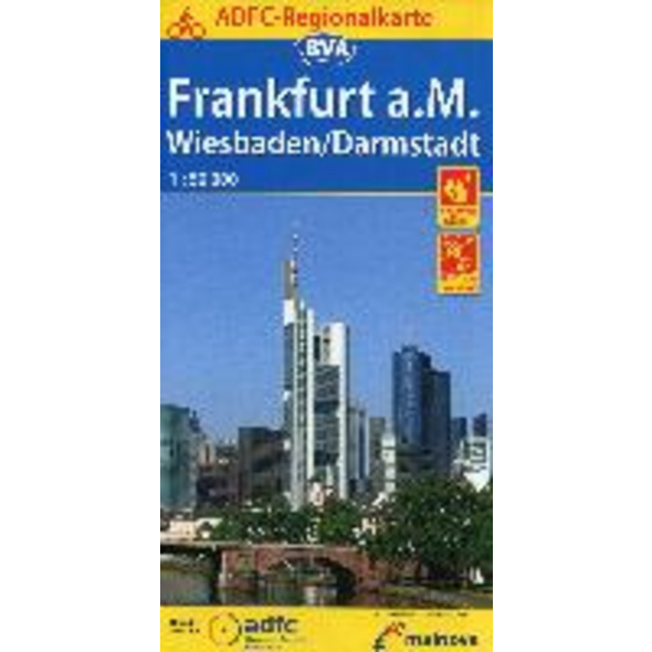 ADFC-Regionalkarte Frankfurt a. M. Wiesbaden Darms