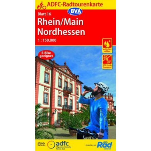 ADFC-Radtourenkarte 16 Rhein Main Nordhessen 1:150