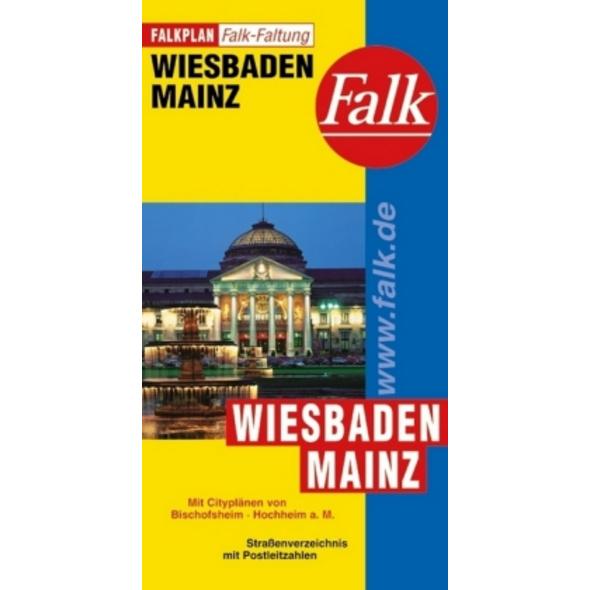 Falk Stadtplan Falkfaltung Wiesbaden   Mainz 1 : 2
