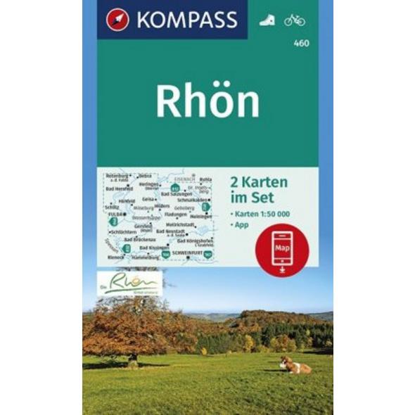 KOMPASS Wanderkarte Rhön 1:50 000