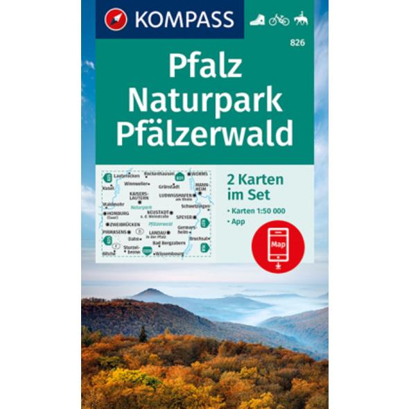 KOMPASS Wanderkarte Pfalz, Naturpark Pfälzerwald 1