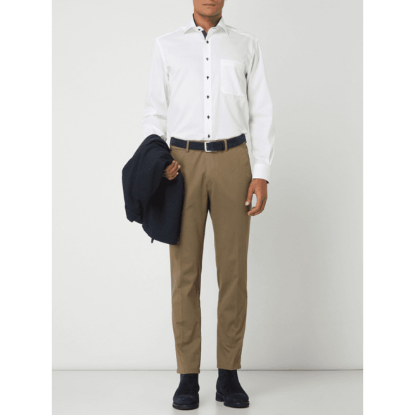 Comfort Fit Business-Hemd aus Oxford