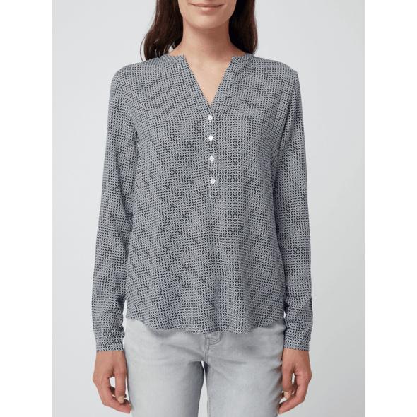 Blusenshirt aus Viskose mit grafischem Muster