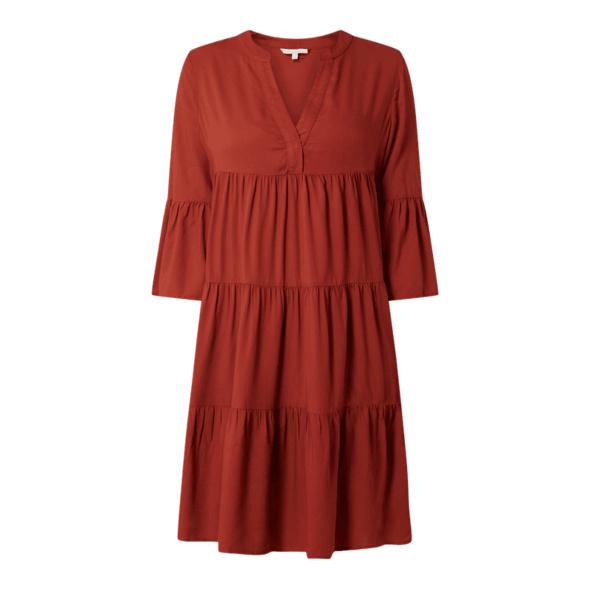 Kleid aus Viskose mit Raffungen