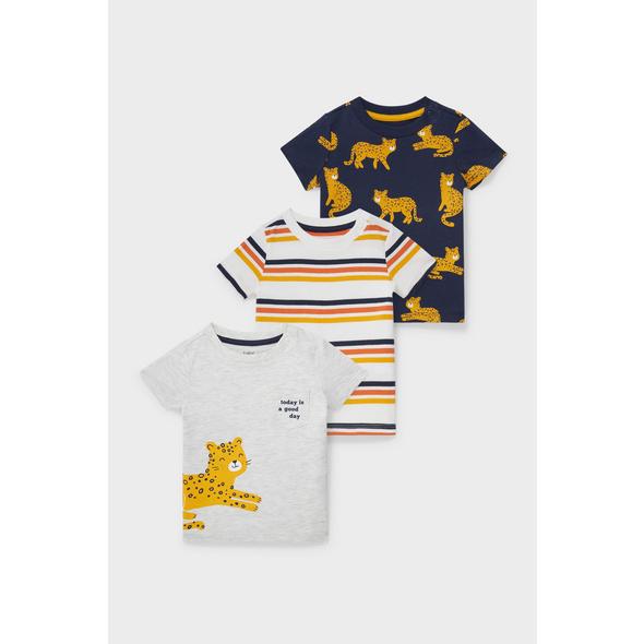 Multipack 3er - Baby-Kurzarmshirt - Bio-Baumwolle