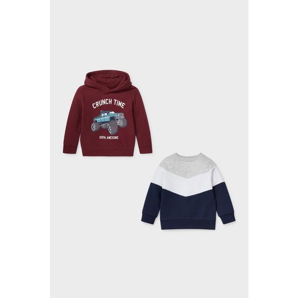 Set - Sweatshirt und Hoodie - 2 teilig
