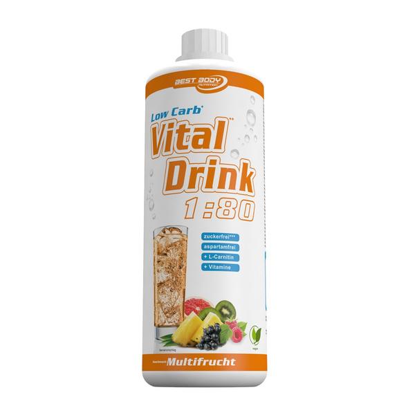 Best Body Nutrition Low Carb Vital Drink 1000ml-Preiselbeer-Limette