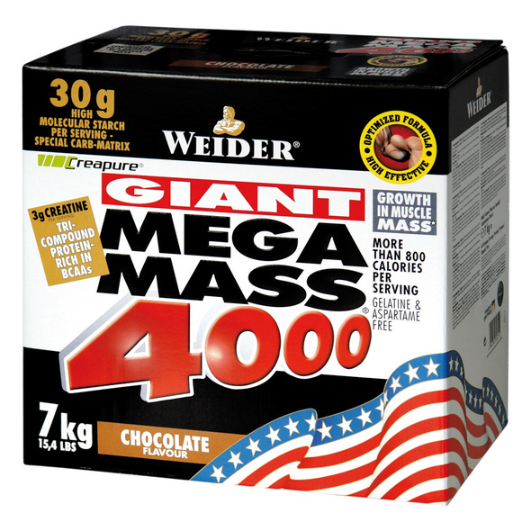 Weider Mega Mass 4000 7000g-Strawberry
