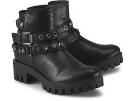 Stiefeletten Schuhe Grau Dunkel Plateau Stiefelette Cox