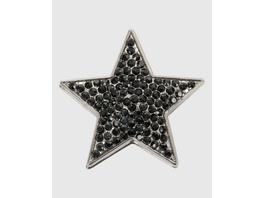 Kleine Stern-Brosche in Schwarz