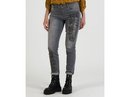 Denim-Jeans mit Rankendesign