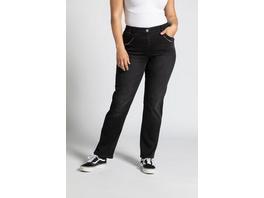 Ulla Popken Jeans Mona, Ziersteinchen, gerade 5-Pocket-Form - Große Größen