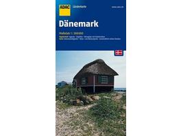 ADAC LänderKarte Dänemark 1 : 300 000