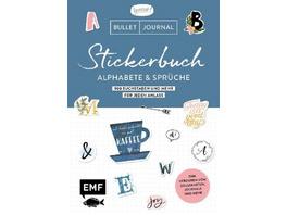 Bullet Journal - Stickerbuch Alphabete und Sprüche