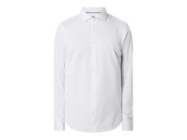 Slim Fit Business-Hemd aus Baumwollmischung