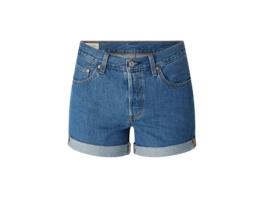 Boyfriend Fit Jeansshorts aus Baumwolle Modell '501'