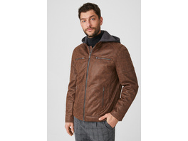 Bikerjacke - Lederimitat - 2-in-1-Look