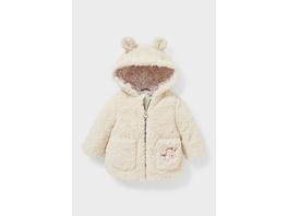 Baby-Teddyjacke mit Kapuze
