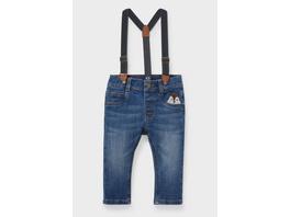 Baby-Jeans mit Hosenträgern